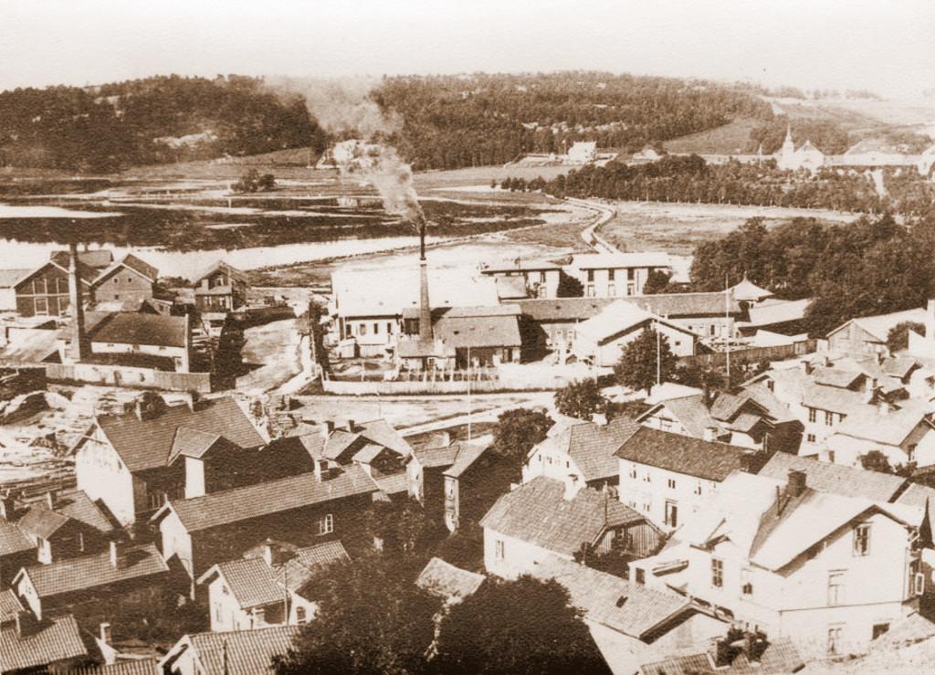 Bilde av Bryggeområdet sett fra Preståsen