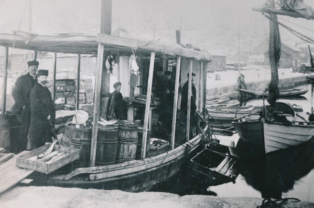 Bilde av Sandefjords første fiskebasar