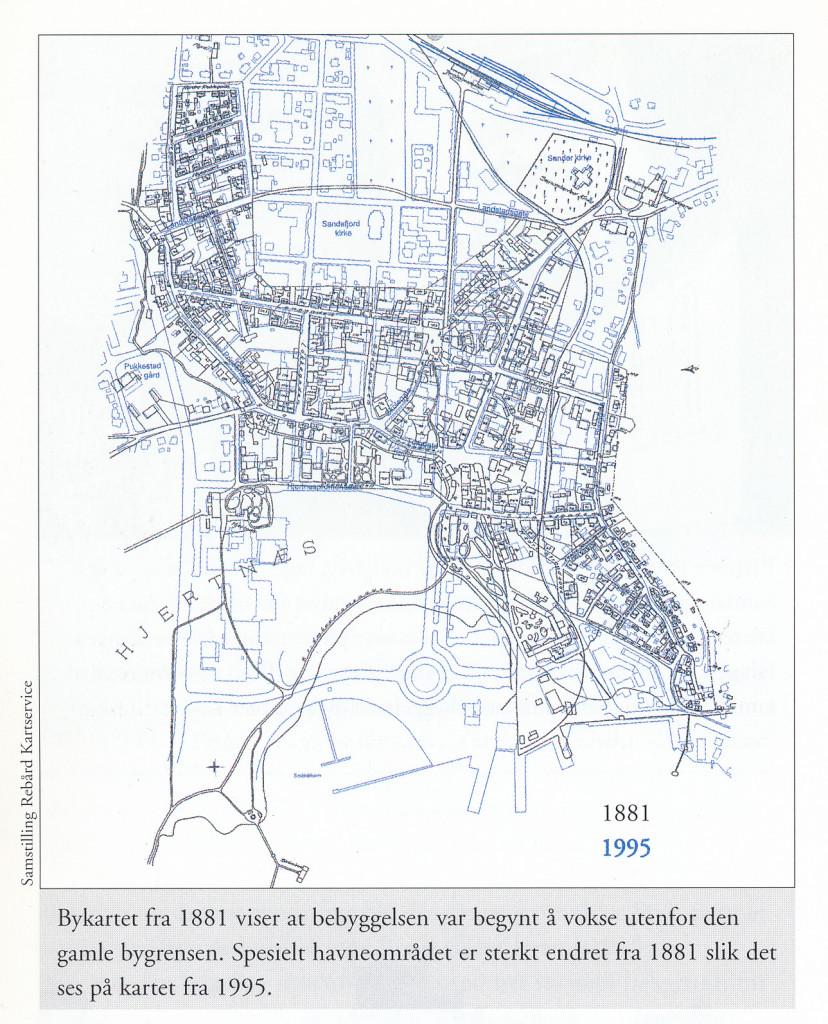 Bilde av Gammel og ny by i ett og samme bykart