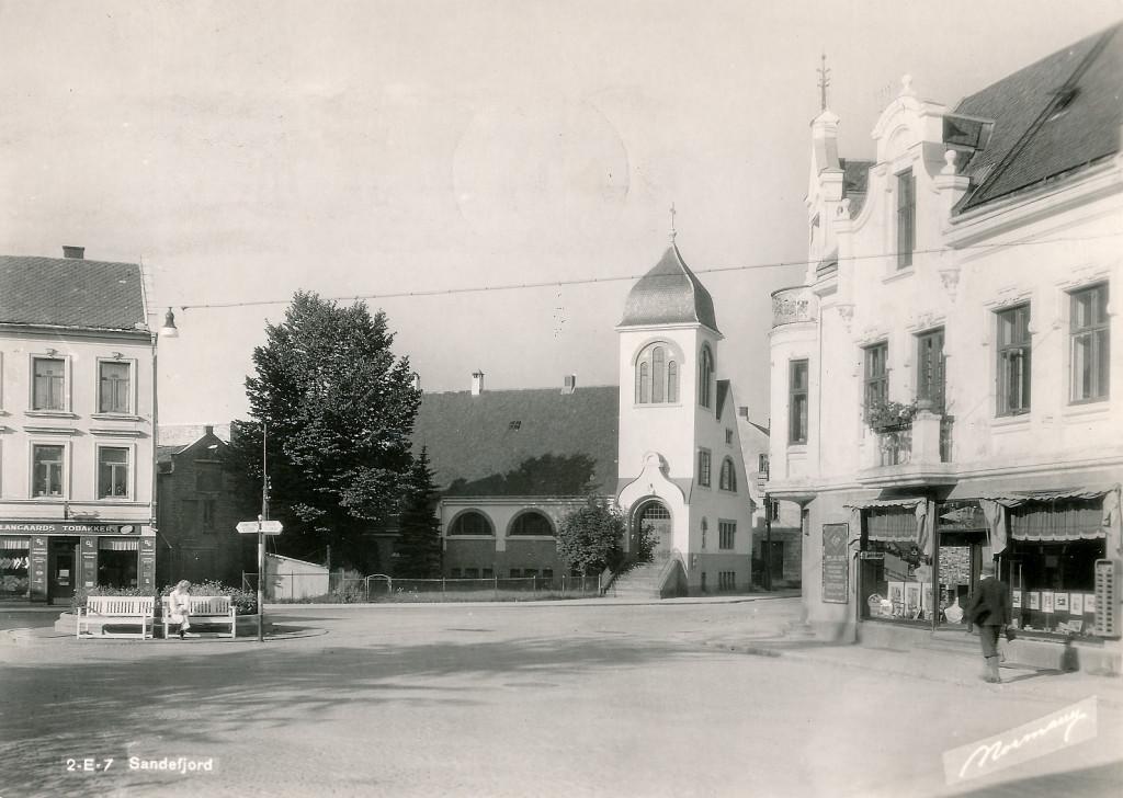 Bilde av Chr. Hvidts Plass 1 med tobakkbutikk