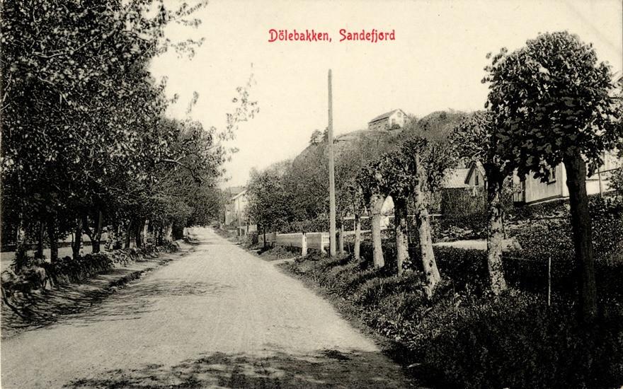 Bilde av Dølebakken som postkortmotiv
