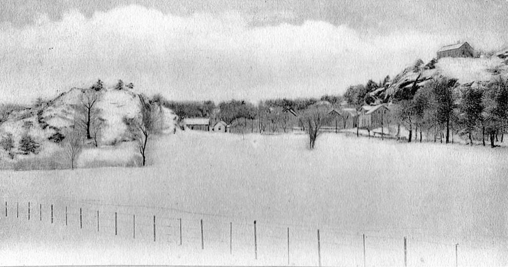 Bilde av Vakkert vintermotiv fra Dølebakken