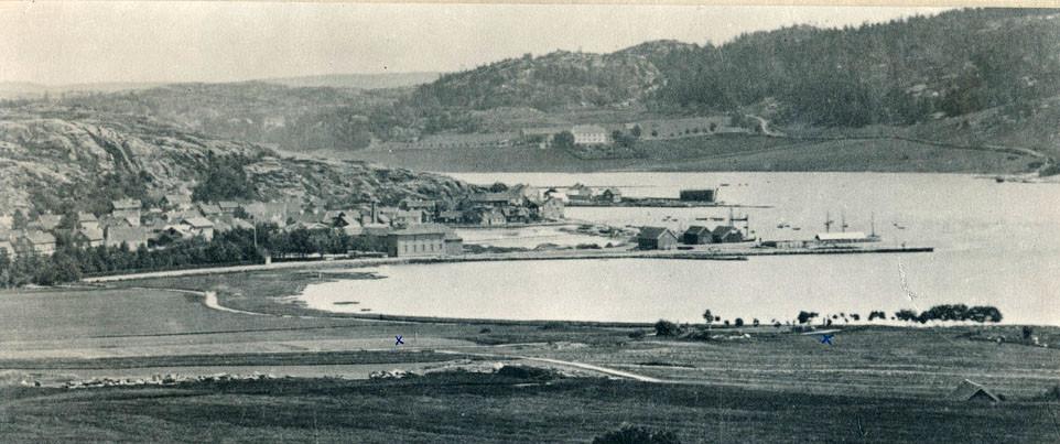 Bilde av Bryggeområdet 1877