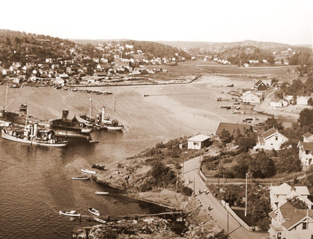 Bilde av Hvalbåter på indre havn