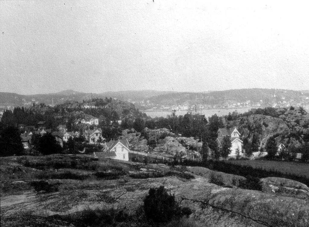 Bilde av Fra Hystad mot byen