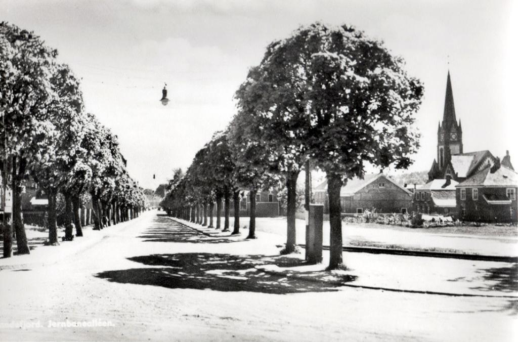 Bilde av Havnesporet krysser Jernbanealleen