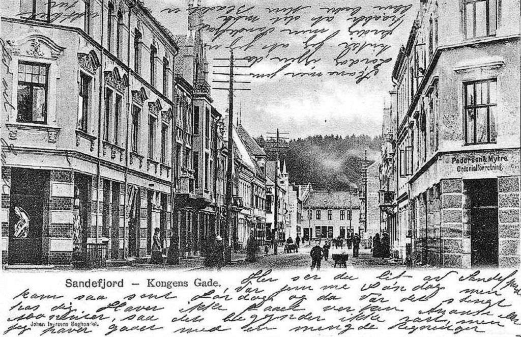 Bilde av Jernbanealleen 25 før banken kom.
