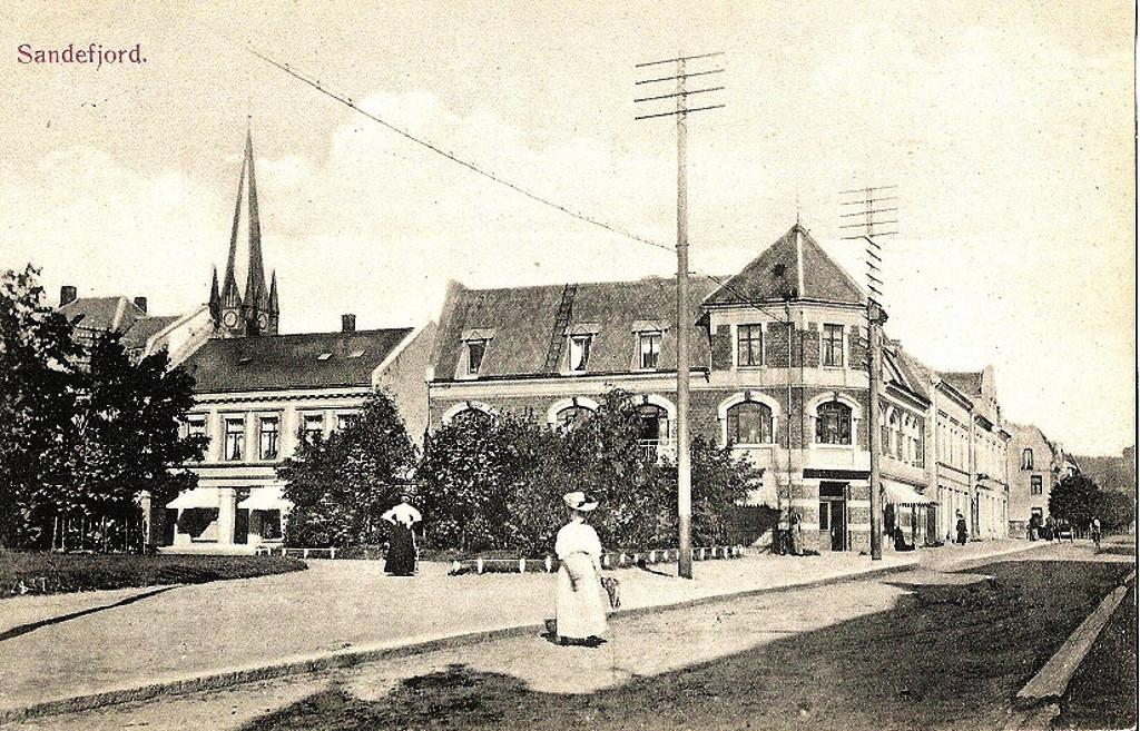 Bilde av Byparken med Kongens gate 5