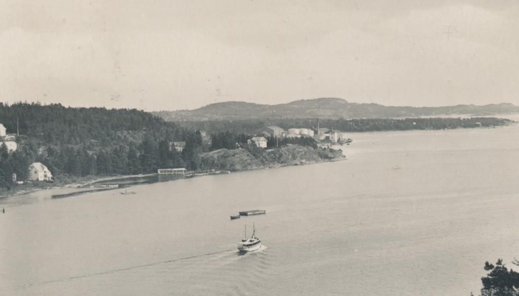 Bilde av Badehusene på Langestrand