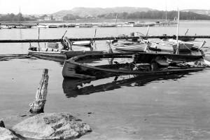 Bilde av Brann i motorbåt på Stub