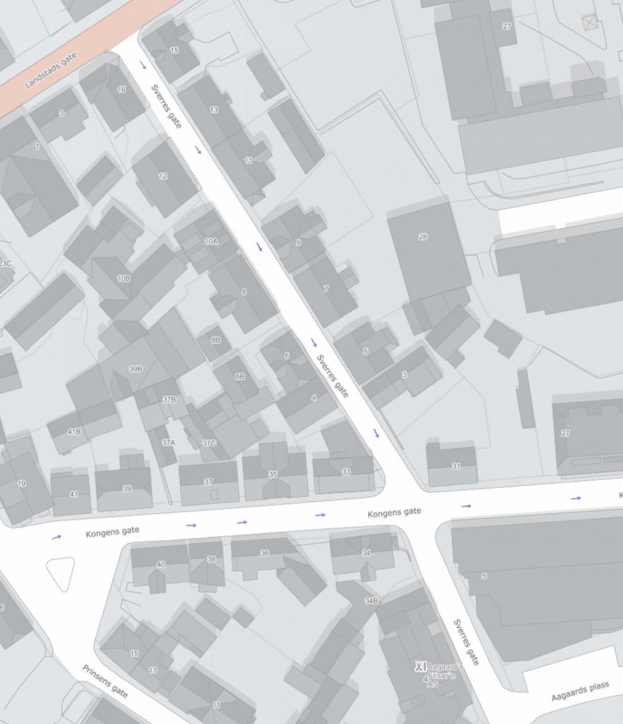 Bilde av Sverres gate - kart