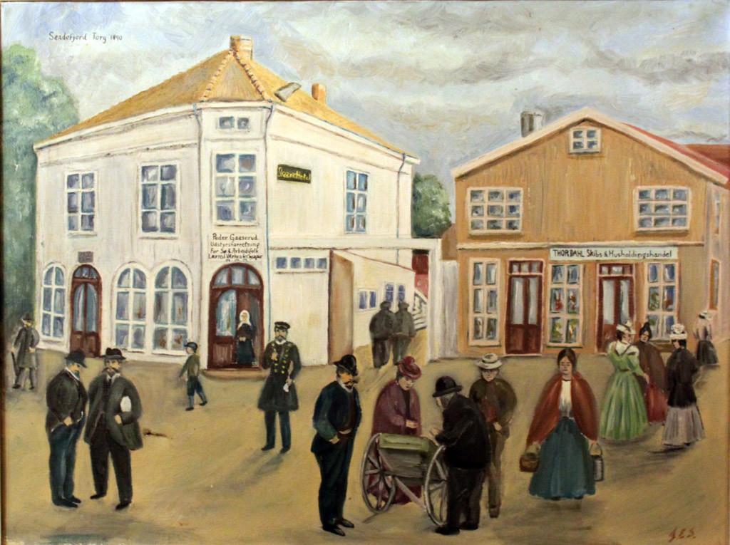 Bilde av Skaara Hotel og Thor Dahl på Torget