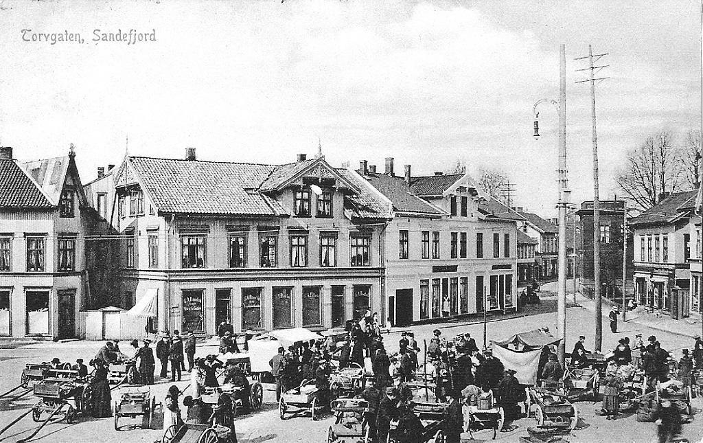 Bilde av Torghandel i gamle dager