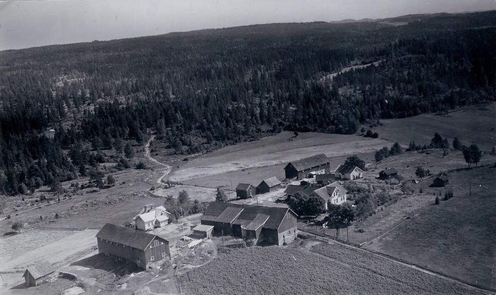 Bilde av Haughem gårdene 1940