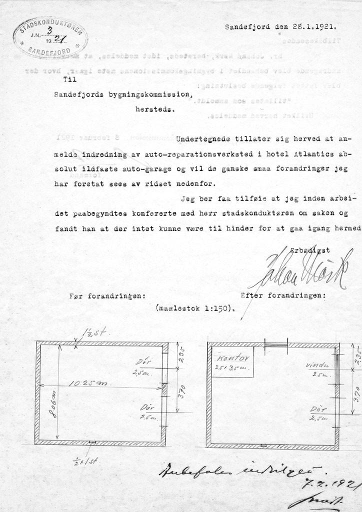 Bilde av Søknad 26.1.1921