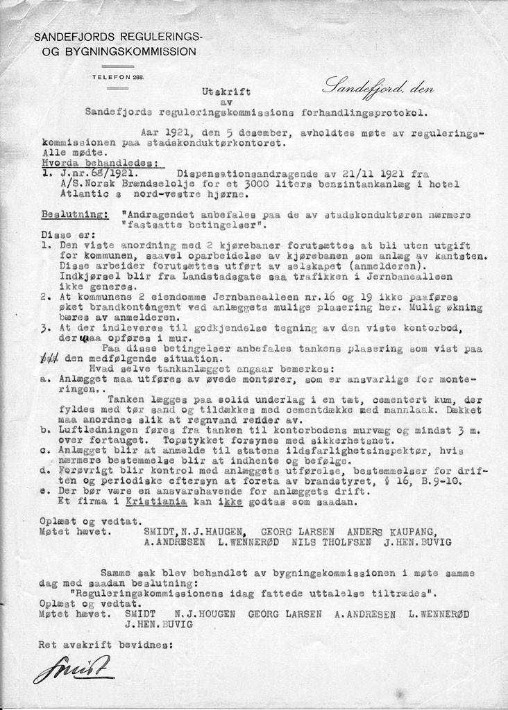 Bilde av Søknad 5.12.1921