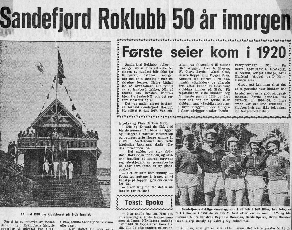Bilde av Sandefjord Roklubb 50 år