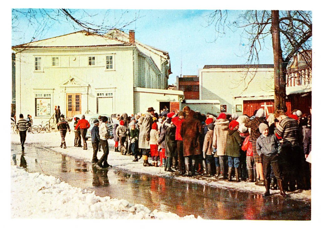 Bilde av Kinokø på Kinoteateret