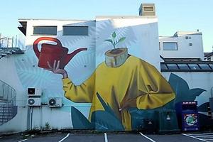 Bilde av Veggmalerier i Sandefjord.