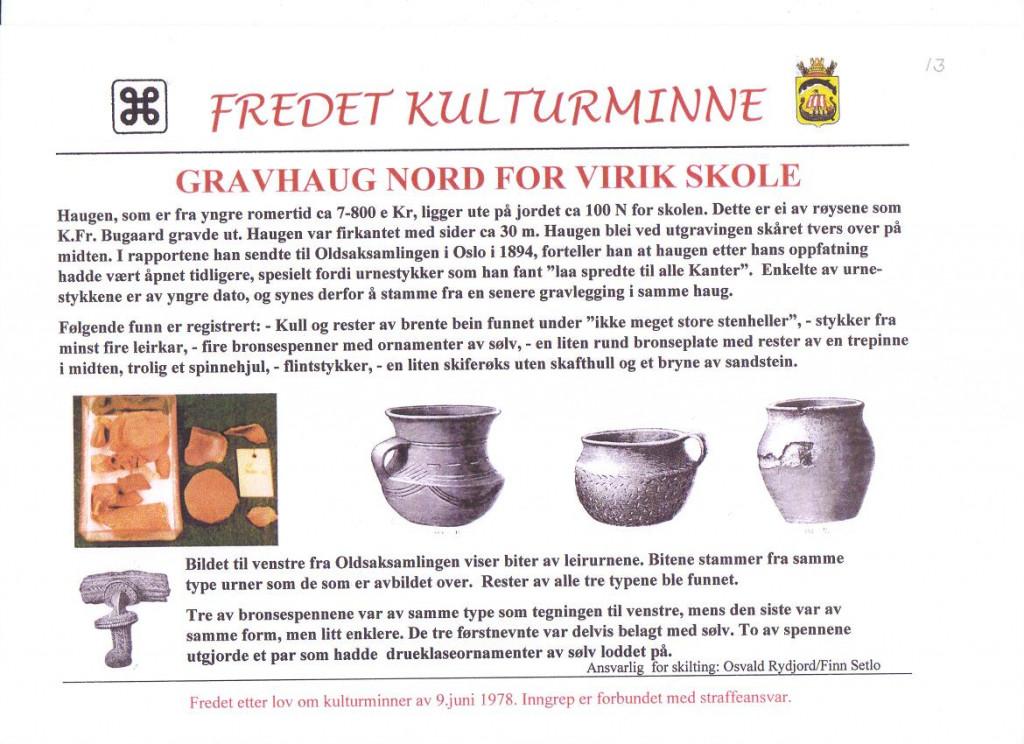 Bilde av Fra utgravinger ved Virik Skole