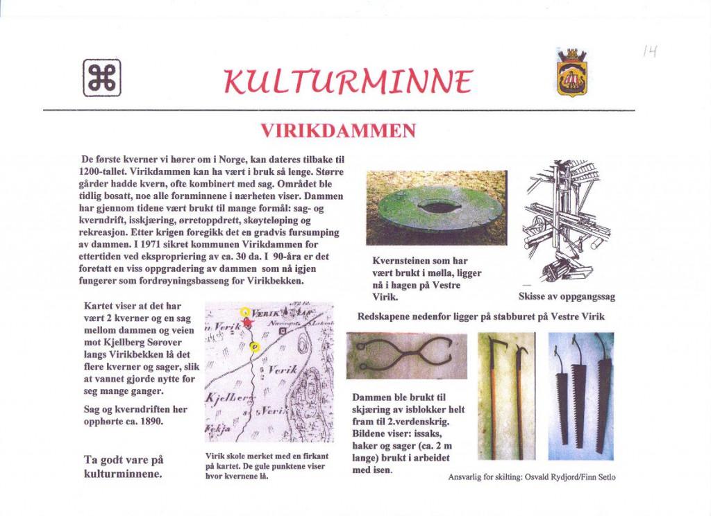 Bilde av Virikdammen og gammelt kart.