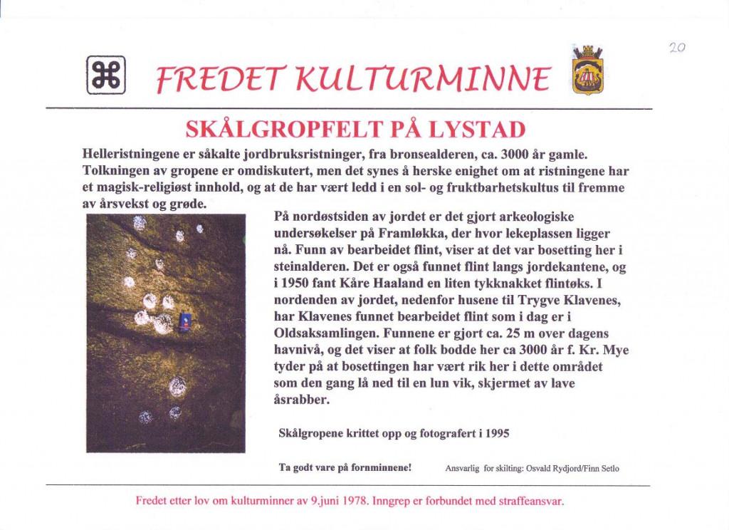 Bilde av Stålgropfelt på Lystad.
