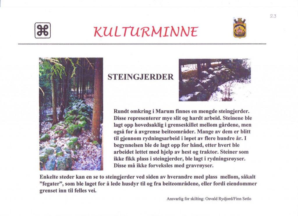 Bilde av Flere steingjerder funnet i Marumtraktene.