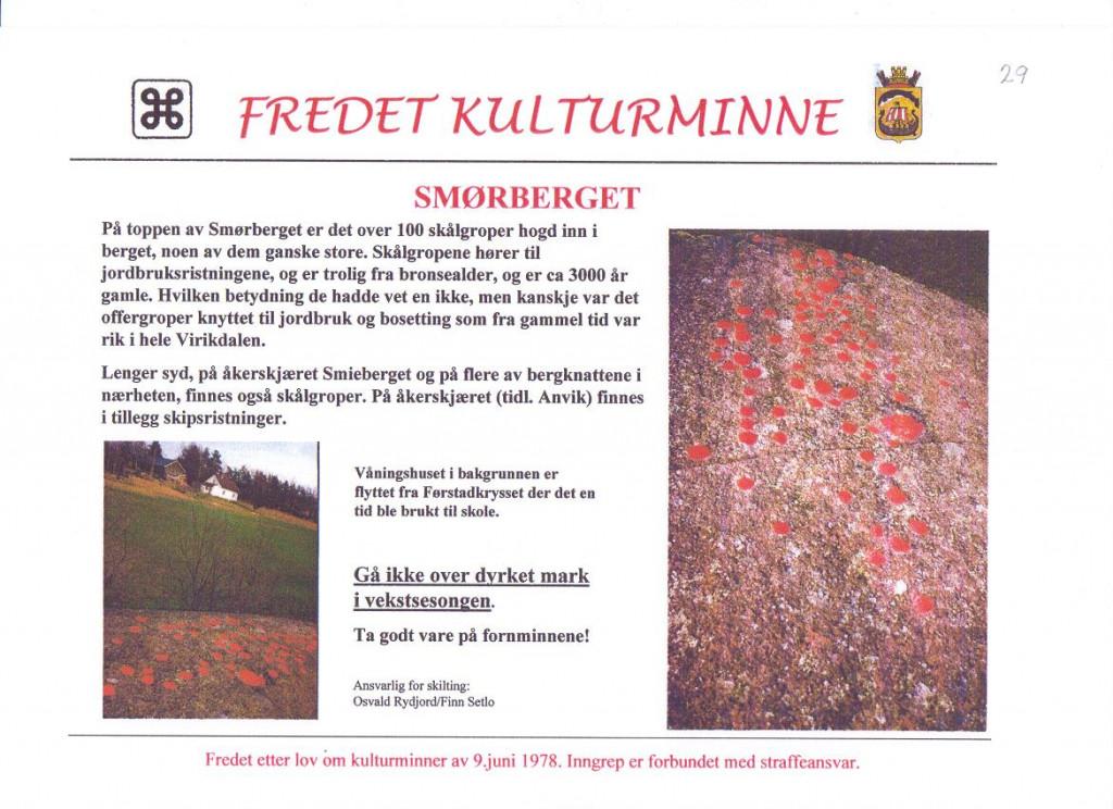 Bilde av Skålgroper på Smørberget.