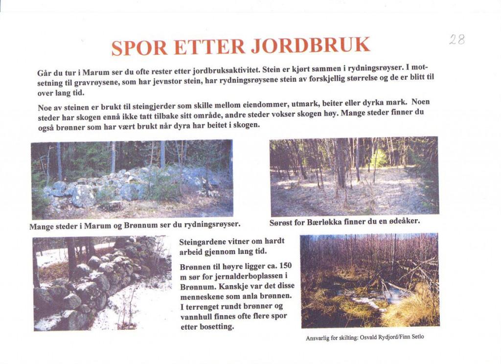 Bilde av Spor etter jordbruk i  Marum og Brønnum.