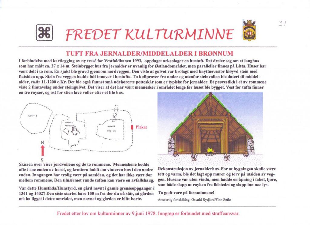 Bilde av Hustuft fra jernalderen i Brønnum.