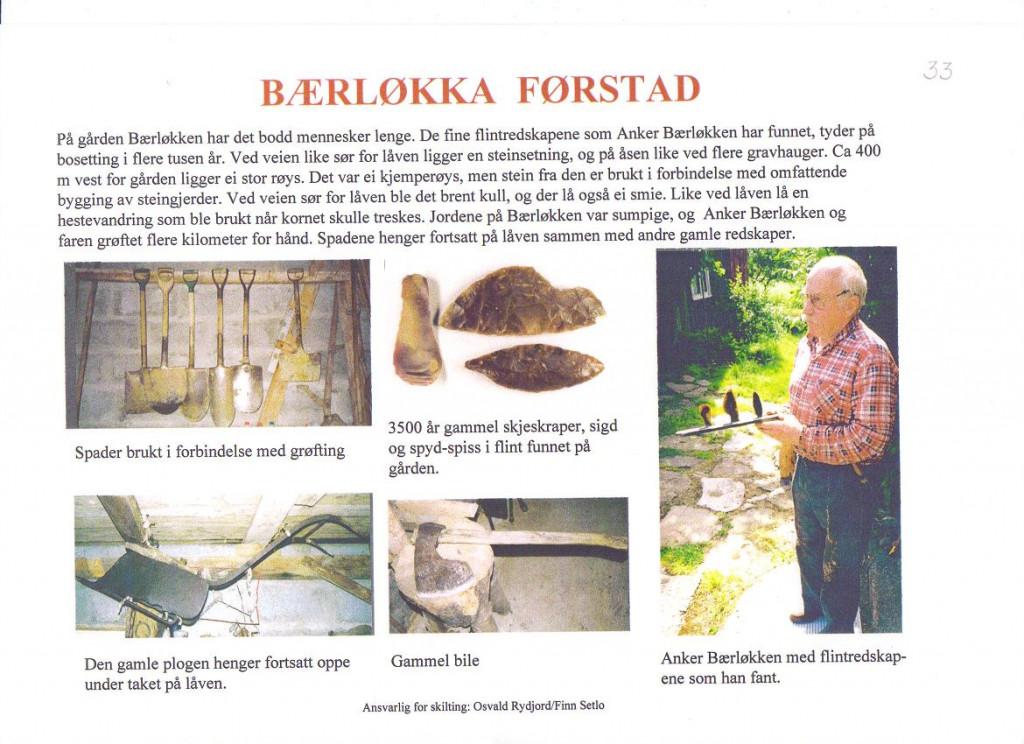 Bilde av Funn på Bærløkka / Førstad.