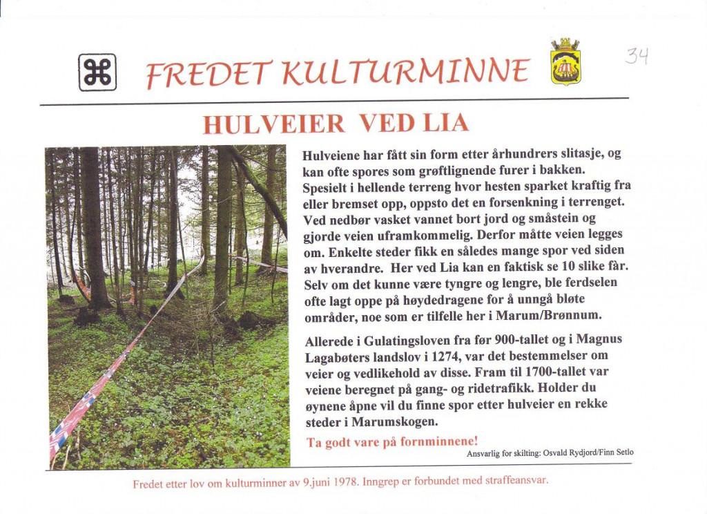 Bilde av Hulveier ved Lia.
