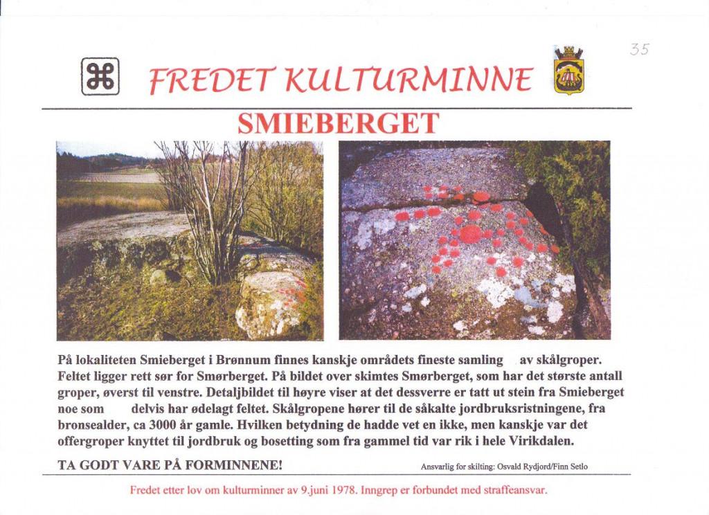 Bilde av Smieberget i Brønnum.