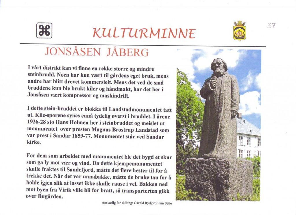 Bilde av Jonsåsen på Jåberg