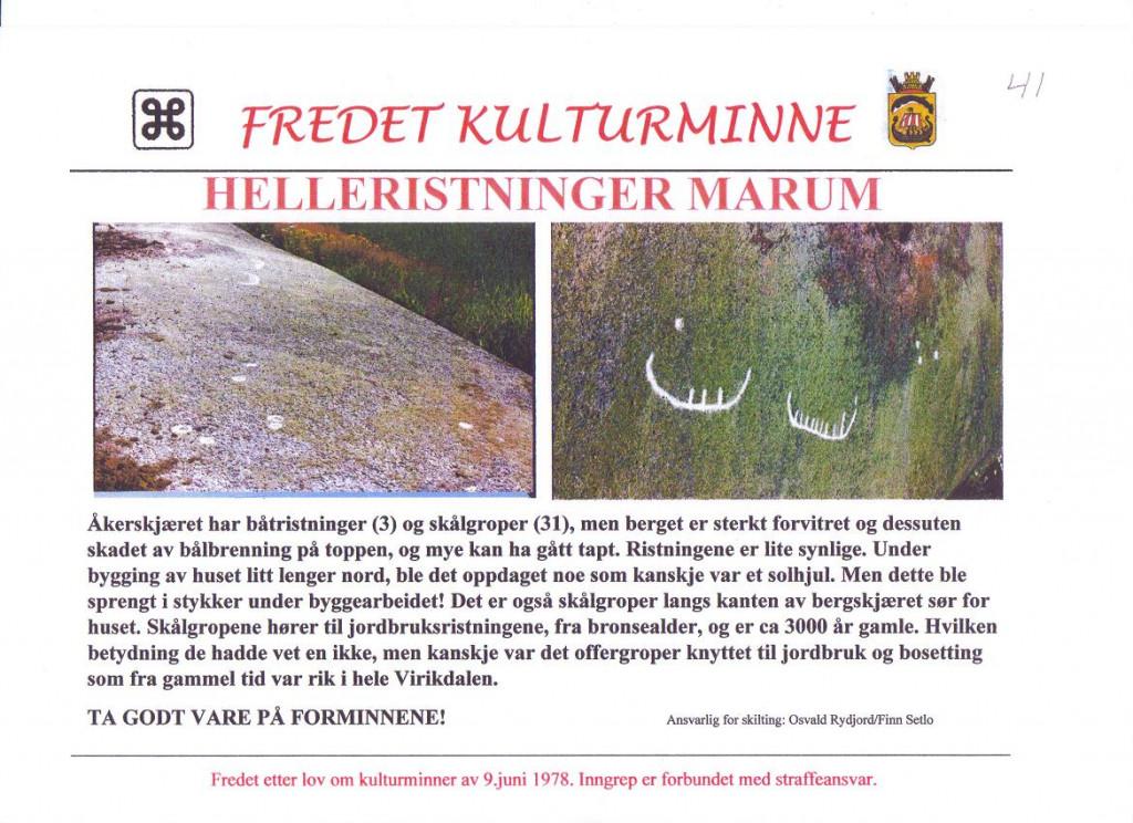 Bilde av Helleristninger i Marum.