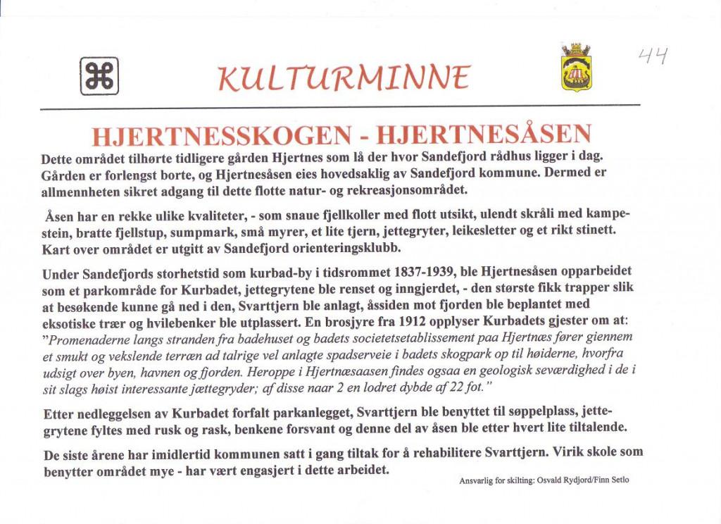 Bilde av Hjertnes-skogen/åsen.