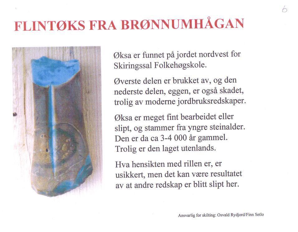 Bilde av Flintøks fra Brønnumhågan.