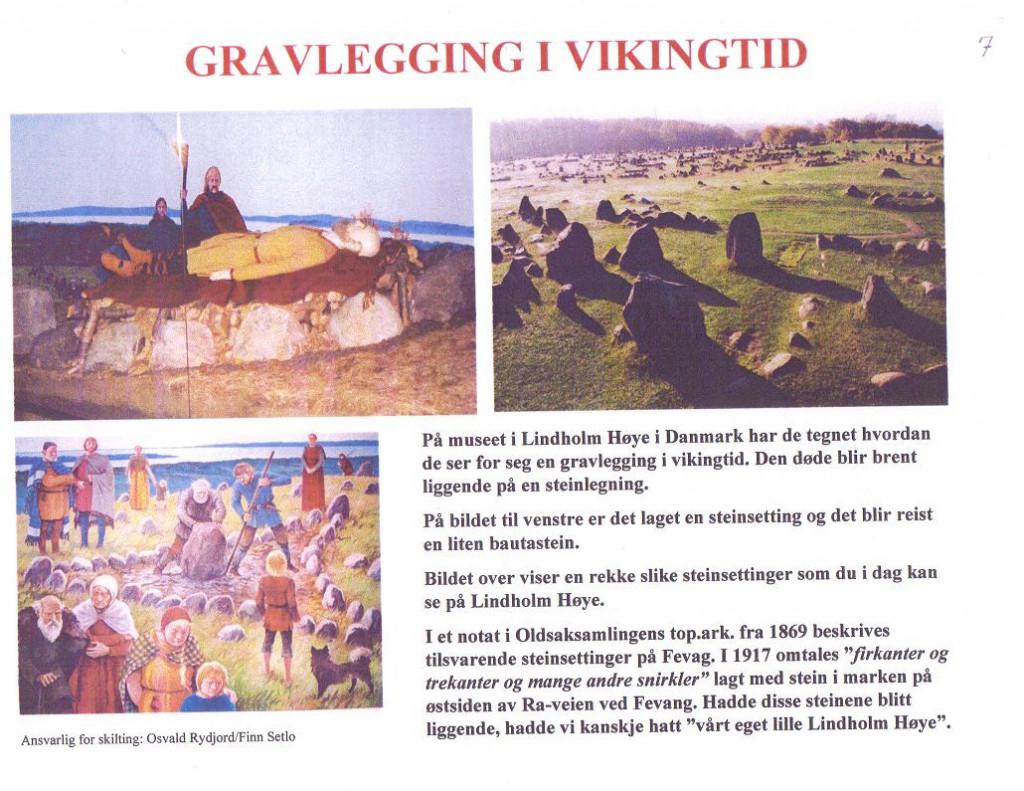 Bilde av Gravlegging i vikingtiden.