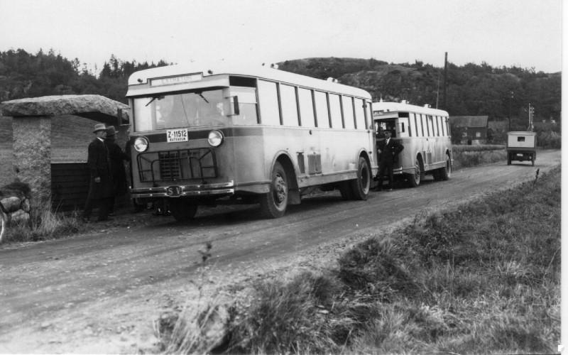 Bilde av Turistbusser ved Gogstadhaugen.