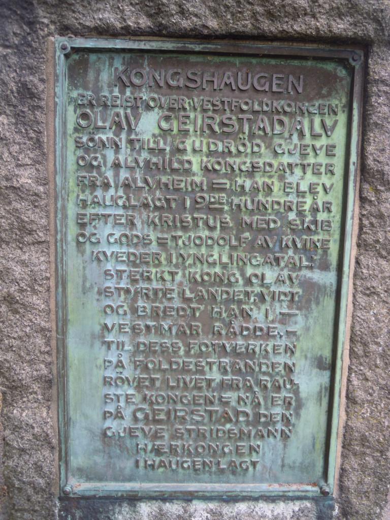 Bilde av Gogstadhaugen Minnedsmerke.