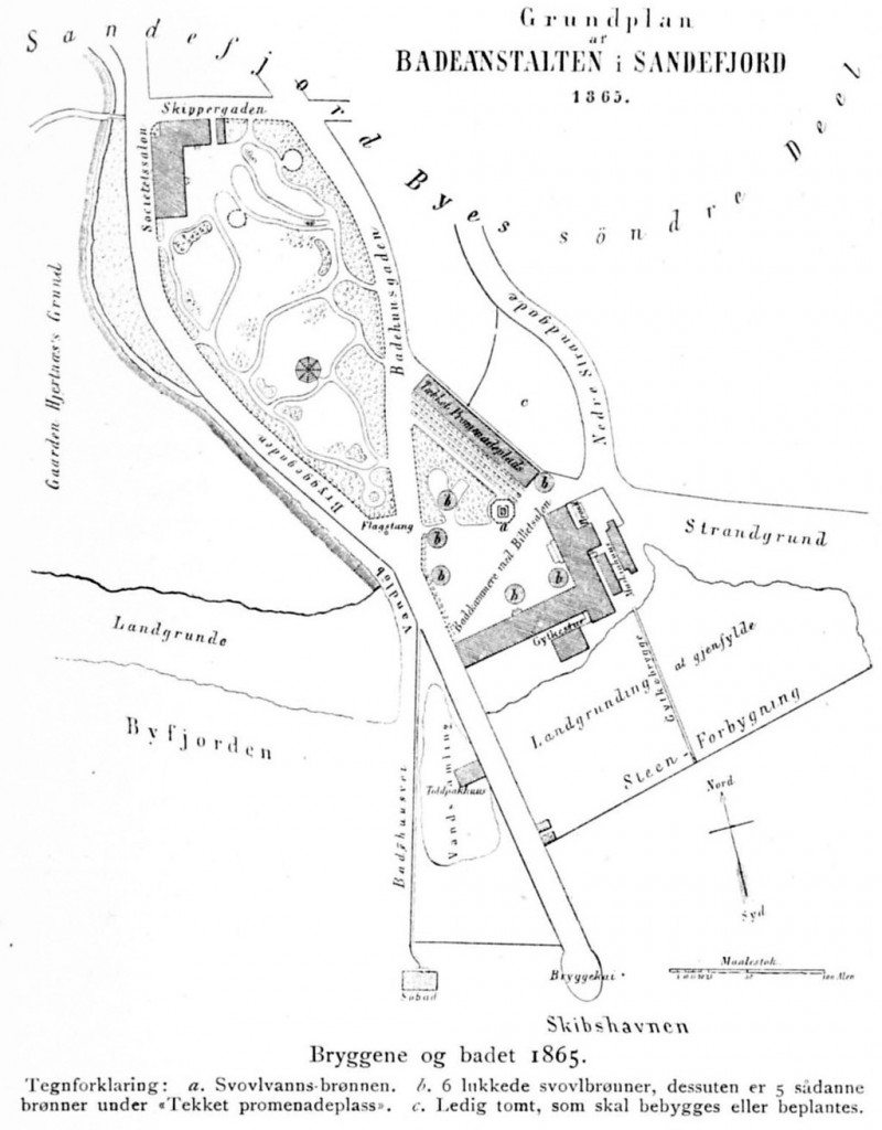 Bilde av Grunnplan for Badet - fra 1865