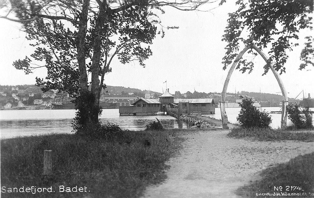 Bilde av Strømbadet sett fra nordsiden.
