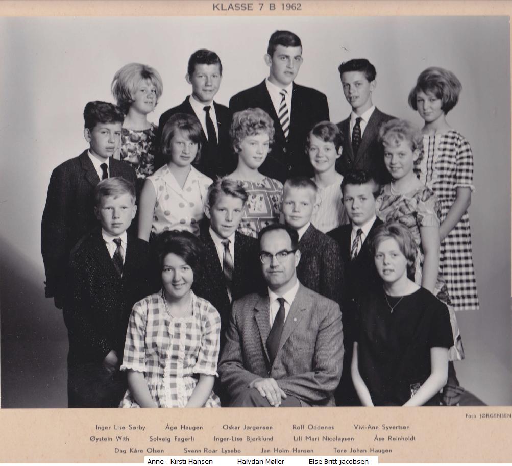 Bilde av 1962 klasse 7B