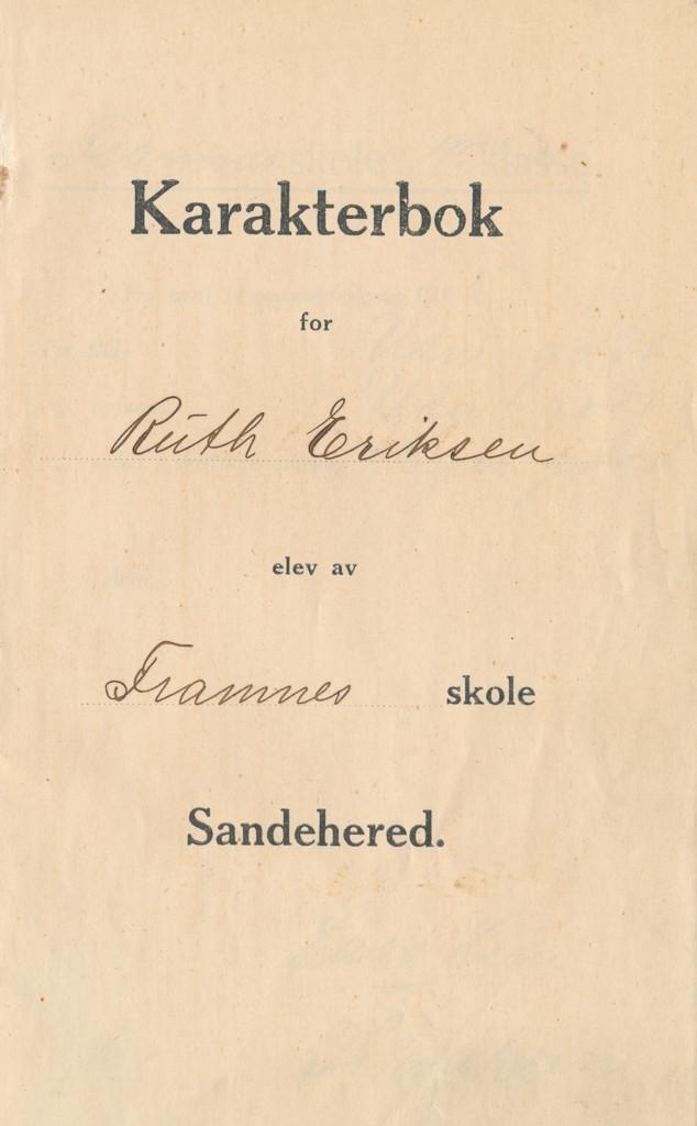 Bilde av Karakterbok fra 1915