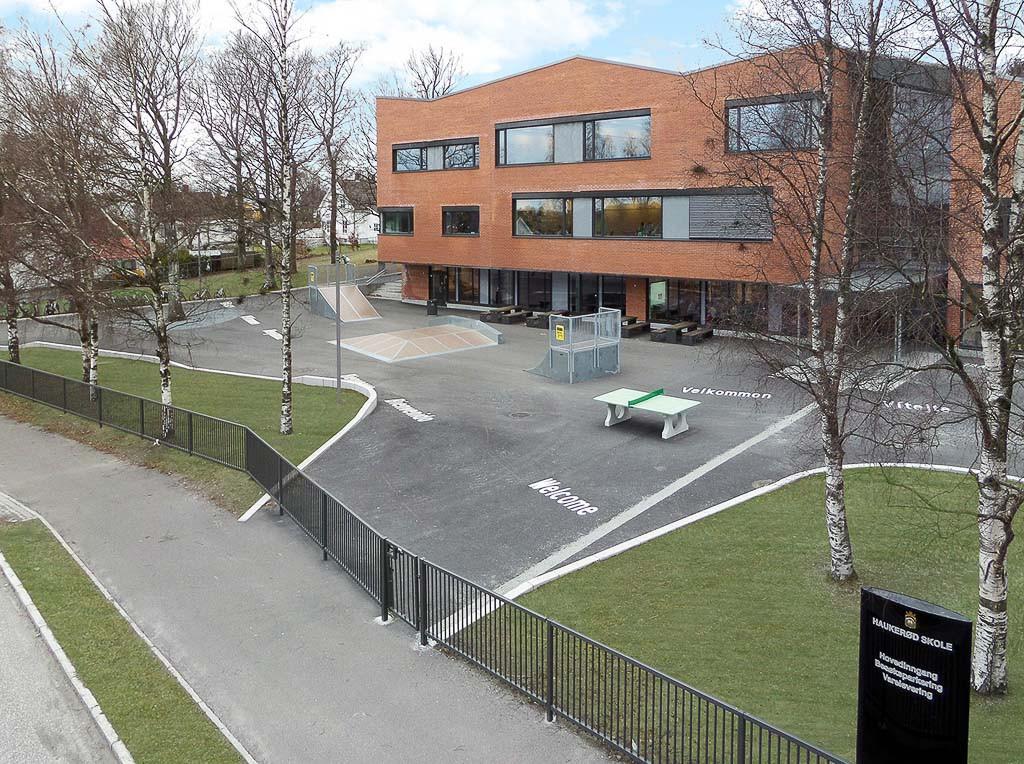 Bilde av Haukerød skole.