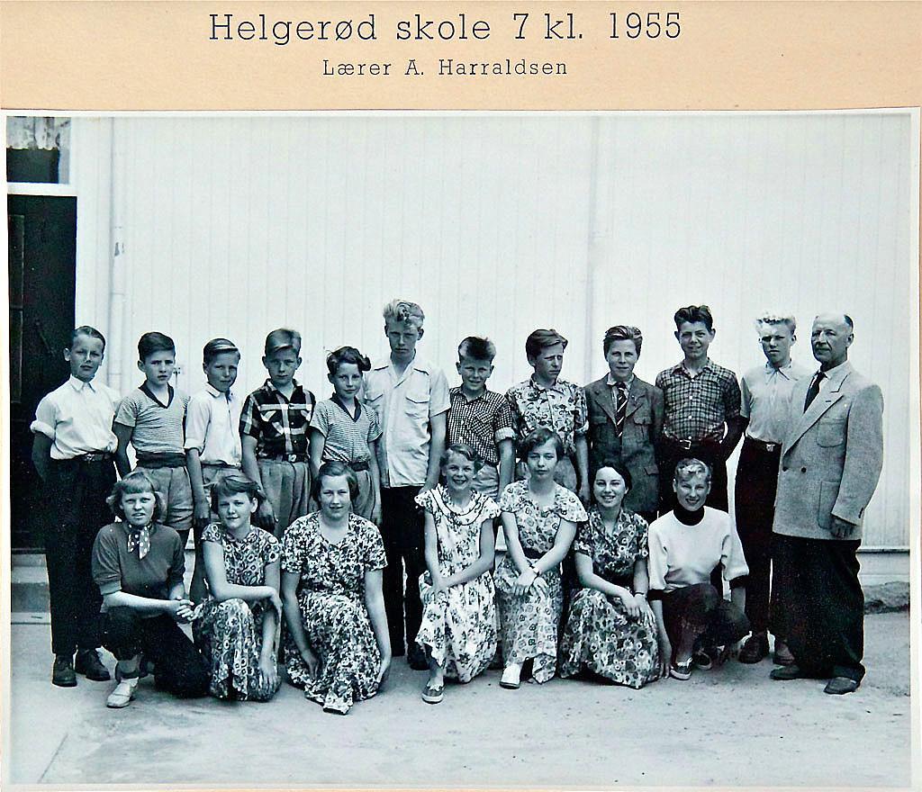 Bilde av Klasse 1955 7A