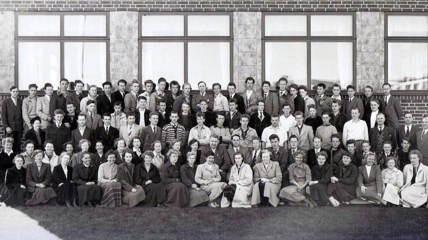 Bilde av Sandar Yrkesskole 1953 - 54
