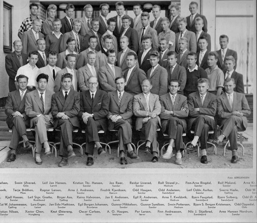 Bilde av Sommerkurs 3.maskinistkull 1950-tallet