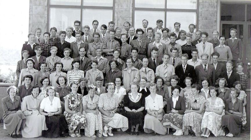 Bilde av Sandar Yrkesskole 1951 - 1952