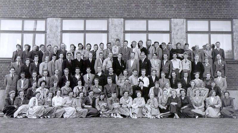 Bilde av Sandar Yrkesskole 1952-53